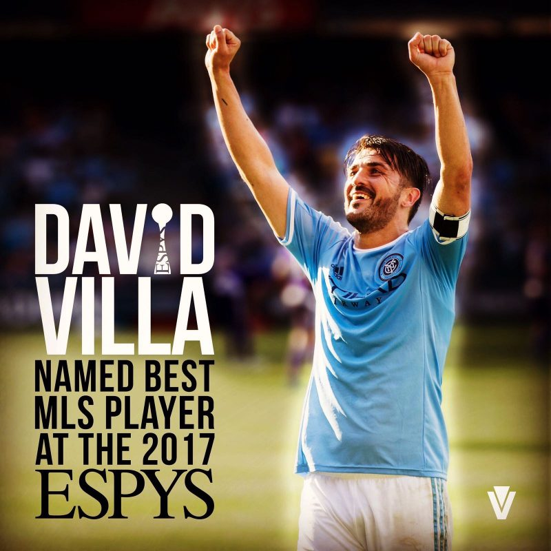 image of david villa at the 2017 espys
